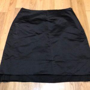 Carolina herrera black satin skirt 13